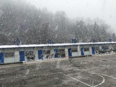 竹山县?#27827;?#26469;2020年第一场雪