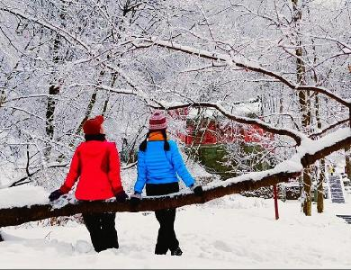 武当山冬雪