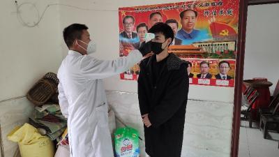 大廟鄉:開展轄區居民體溫監測