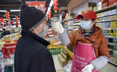 竹山縣:百名志愿者把關超市阻擊疫情