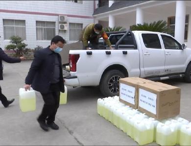 竹山建筑企業捐款捐物20萬元助力抗疫