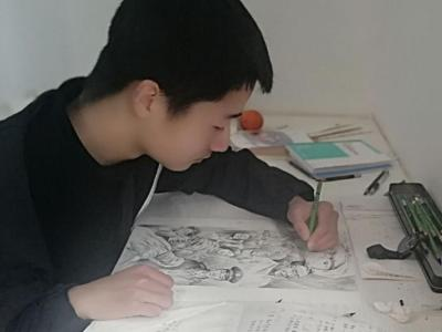 """竹山二中:用畫筆致敬""""逆行者"""""""