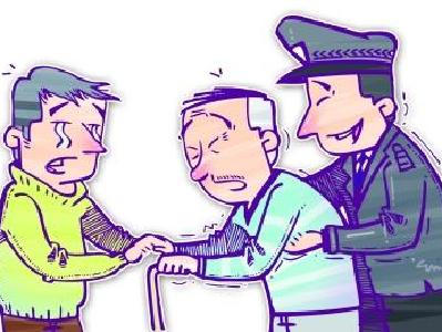 聋哑老人走失 警民合力找回