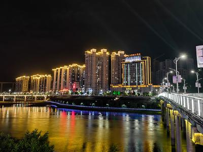 竹山:堵河兩岸夜景美如畫