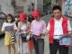"""縣實驗幼兒園:""""公勺公筷""""宣傳進社區"""