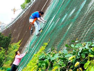 湖北省竹山县立体播绿 助力国家园林城市创建