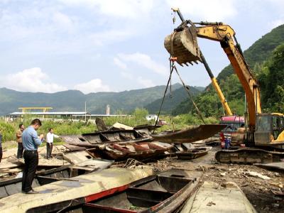 上庸鎮214條漁船完成拆解