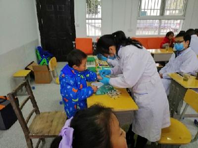 雙臺鄉茅塔小學開展學生健康體檢