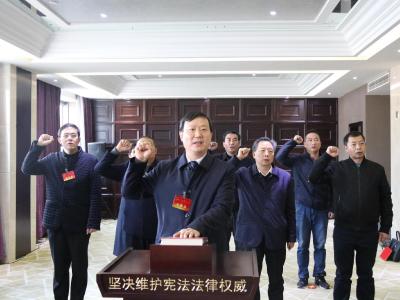 我县新当选国家工作人员向宪法宣誓