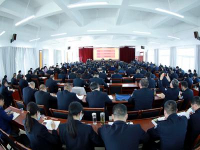 全县政法队伍教育整顿党风廉政教育报告会召开