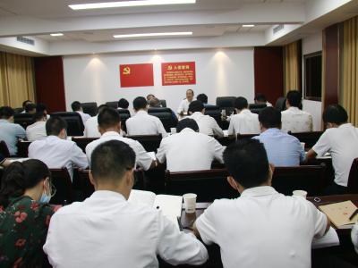 县委办举行9月份支部主题党日活动