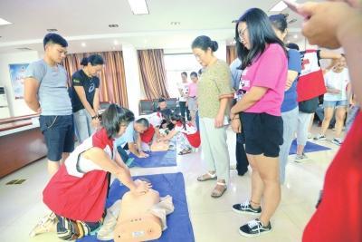 40名志愿者学习救护员培训 为荆马提供后勤保障