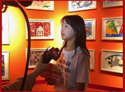 厉害!荆州一小学生的画作《滑雪飞人》入展故宫