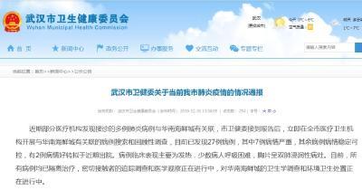 剛剛,武漢市衛健委通報肺炎疫情:尚未發現人傳人現象