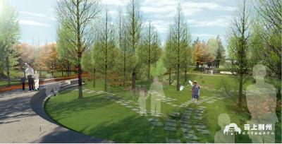 高清大图!荆北片区湿地水系公园建设已完成总工程量的50%