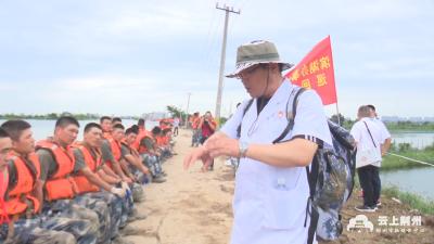 党旗在防汛救灾一线高高飘扬 丨滨湖卫生院:防汛堤上的巡回医疗队