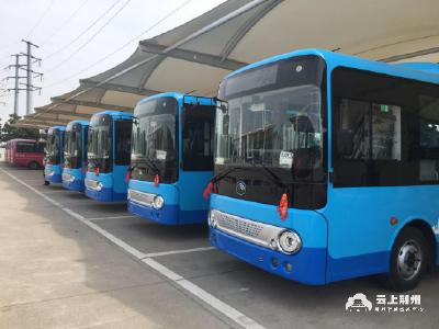 江陵新购5辆新能源公交车即将投入营运