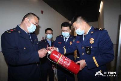 广场开业安全第一,消防部门查验10700件消防器材真伪