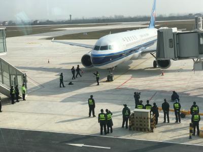 CZ2123次航班安全抵达,荆州沙市机场迎来通航后的第一批乘客