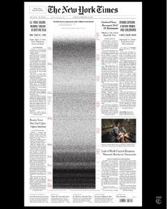 《纽约时报》头版,有近50万个黑点