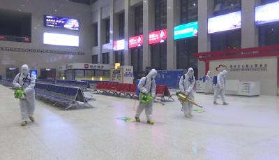荆州火车站全面消杀 保乘客春运安全
