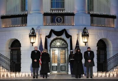 白宫降半旗,拜登默哀