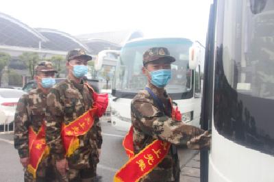 武警荆州支队迎来2021年首批春季新兵