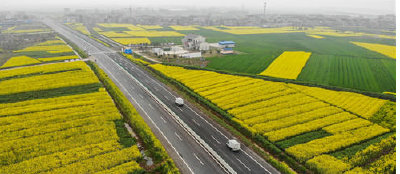 G351国道(江陵秦市至郝穴段)一级公路改造工程完工