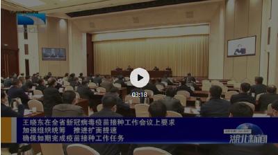 王晓东在全省新冠病毒疫苗接种工作会议上要求 加强组织统筹 推进扩面提速 确保如期完成疫苗接种工作任务