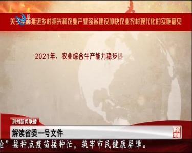 荆州新闻联播 2021-04-11