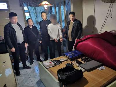嚣张!湘鄂西革命旧址对面进行电信诈骗 4人被抓