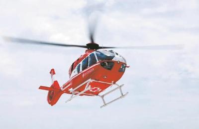 """空中120""""来了单次费用4900元 武汉启动直升机交通事故救援"""