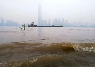 长江汉口站逼近设防水位 武汉发布蓝色预警