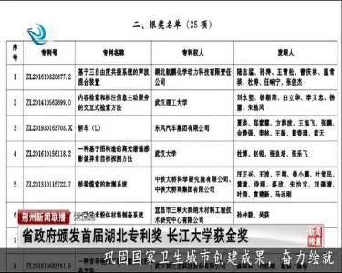 短消息:省政府颁发首届湖北专利奖 长江大学获金奖