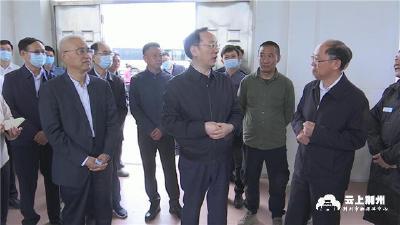 省委常委、常务副省长李乐成来荆州检查防汛抗旱工作
