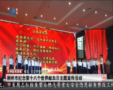 荆州市纪念第十八个世界献血日主题传活动