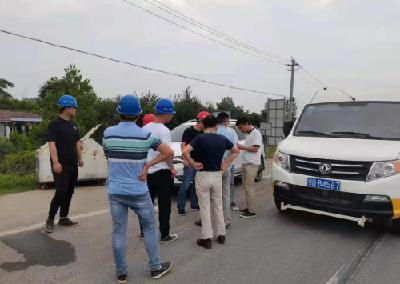 荆州高新区住建局组织开展318国道道路检测工作