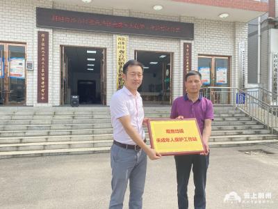 荆州市首个乡镇未成年人保护工作站挂牌成立