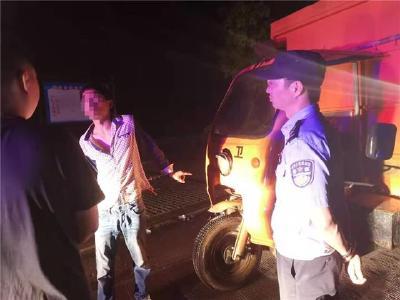 凌晨偷垃圾转运车 两个小时后小偷落网