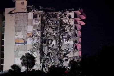 美国突发!佛罗里达州一住宅楼局部坍塌,仍有至少99人下落不明