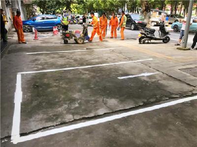 沙市区园林路新增一批停车泊位