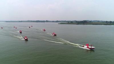 """公安县举行""""天露湖2021""""防汛抢险综合演练"""