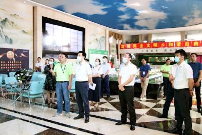 省商务厅调研荆州高新区绿谷小镇项目发展