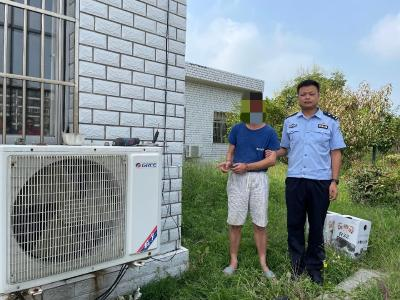偷盗空调外机铜管,江陵一男子被抓获