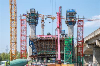 项目进展:江汉运河特大桥6号主墩开始浇筑