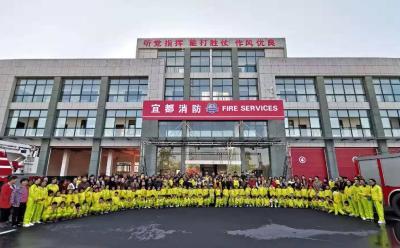 文明宜都 | 消防安全教育从娃娃抓起 枝城镇幼儿园幼儿接受消防教育