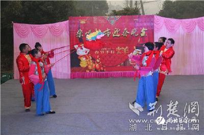 【湖北日报网】宜都:村民自办春晚 丰富文化生活