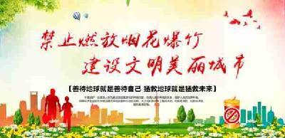 宜都市民请注意,春节期间这些区域限制燃放烟花爆竹