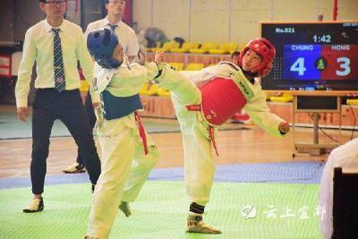 宜都小将获宜昌市跆拳道比赛第一名