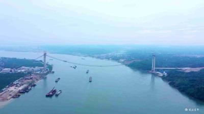 【项目进行时】白洋长江大桥主缆架设完工 预计明年建成通车